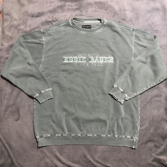 Vintage Eddie Bauer Green Oversized Sweatshirt